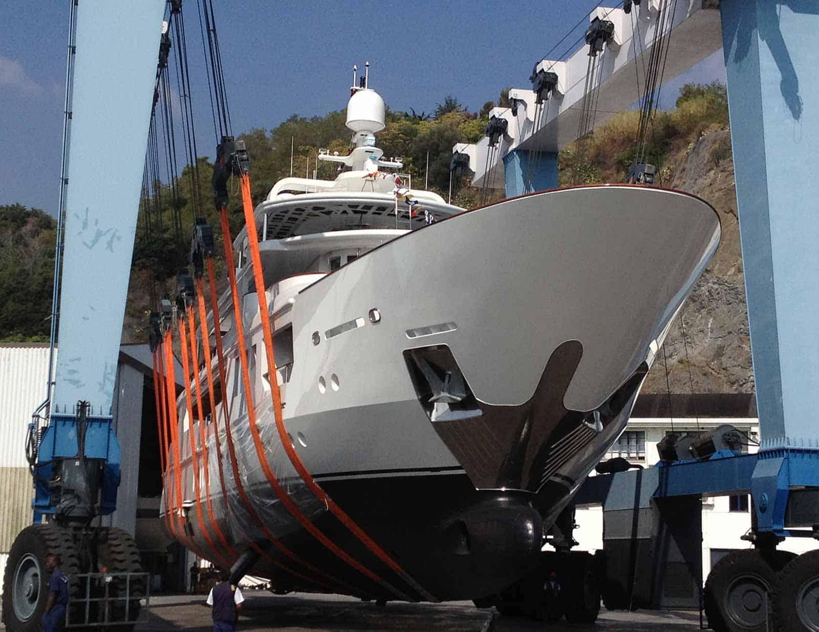 Viudes-Motor-Yacht-at-Marina