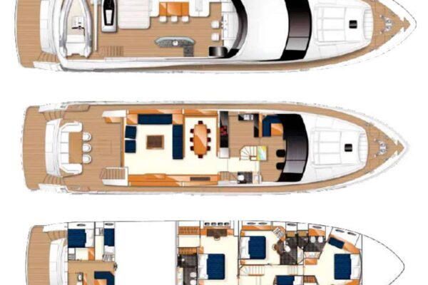 Princess-95-Motor-Yacht-Layout