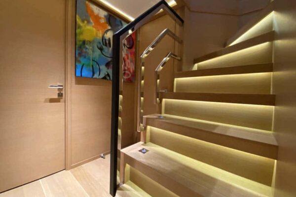 Palmer Johnson PJ120 Escape Motor Yacht Interior Stairs