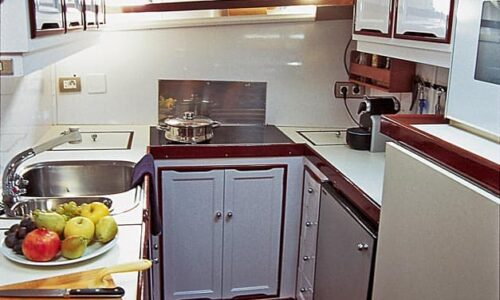 Silver-58-Classic-Motor-Yacht-Interior-Galley